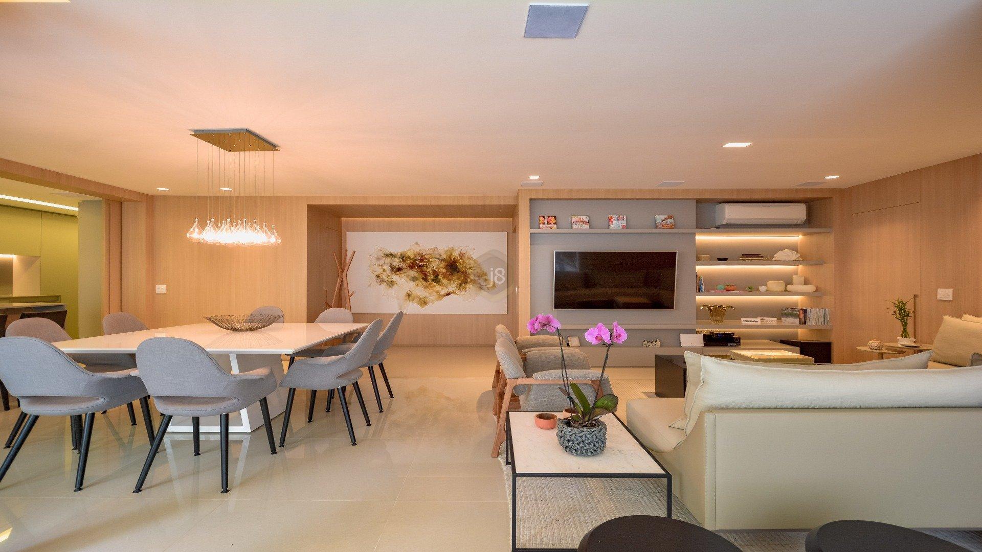 Foto de destaque Apartamento com arquitetura moderna e clean